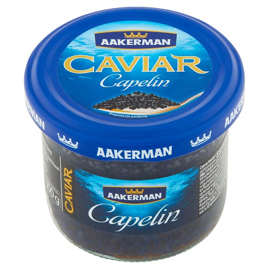Aakerman Capelin Black Caviar 100 g