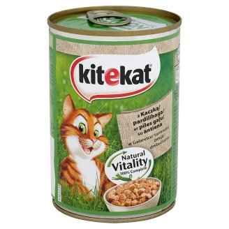 Kitekat Complete Food for Adult Cats with Duck in Jelly 400 g