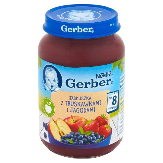 Gerber Apples with Strawberries and Blueberries after 8 Months Onwards 190 g