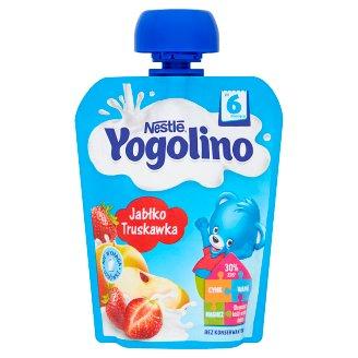 Nestlé Yogolino Deserek owocowo-mleczny jabłko truskawka po 6 miesiącu 90 g