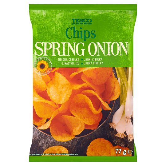 Tesco Spring Onion Flavour Chips 77 g