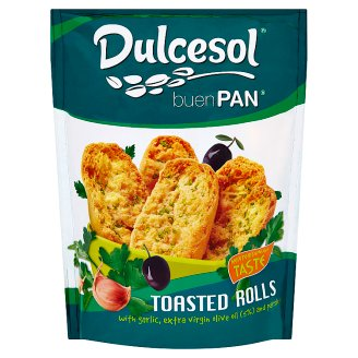 Dulcesol Toasted Rolls with Garlic Extra Virgin Olive Oil and Parsley 160 g