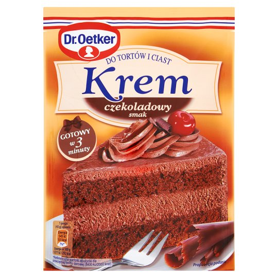Dr. Oetker Chocolate Flavour Cream for Cakes 140 g