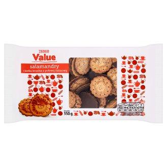 Tesco Value Salamandry Ciastka kruche z polewą kakaową 350 g