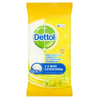 Dettol Lime and Lemon Fragrance Multifunctional Surface Wipes 32 Pieces