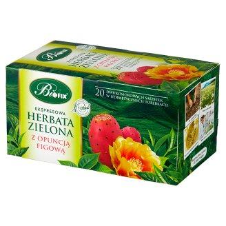 Bifix Zielona z opuncją figową Herbata ekspresowa 40 g (20 saszetek)