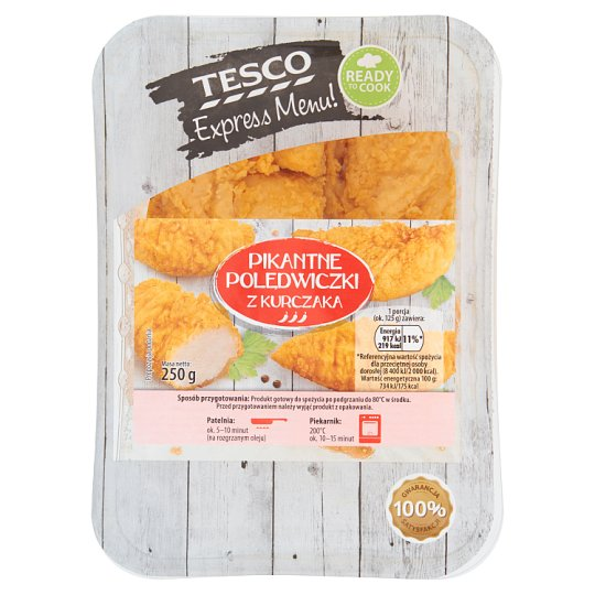 Tesco Express Menu! Spicy Chicken Loins 250 g