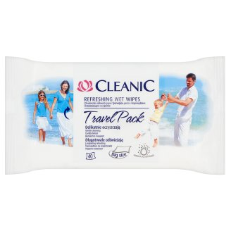 Cleanic Travel Pack Refrshing Wet Wipes 40 Pieces