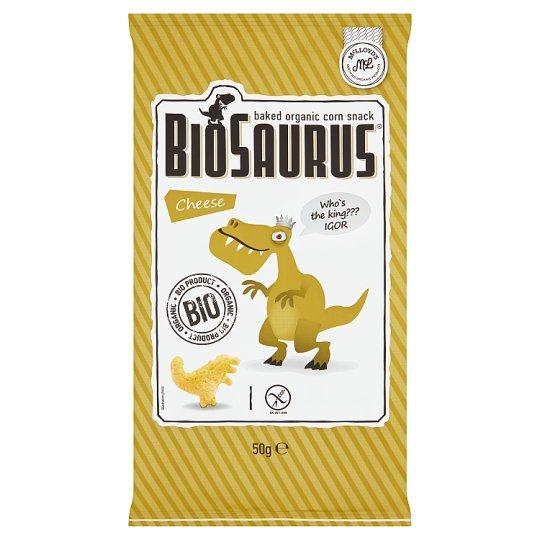 BioSaurus Cheese Baked Organic Corn Snack 50 g