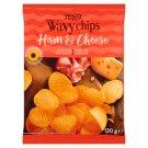 Tesco Chipsy ziemniaczane grubo krojone o smaku szynki i sera 130 g