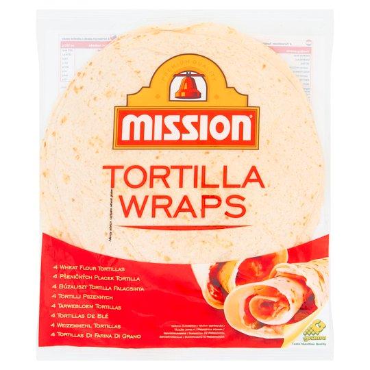 Mission Tortilla Wraps Tortilla pszenna 245 g (4 sztuki)