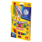 Astra Rainbow Jumbo Colored Pencils 12 Colours