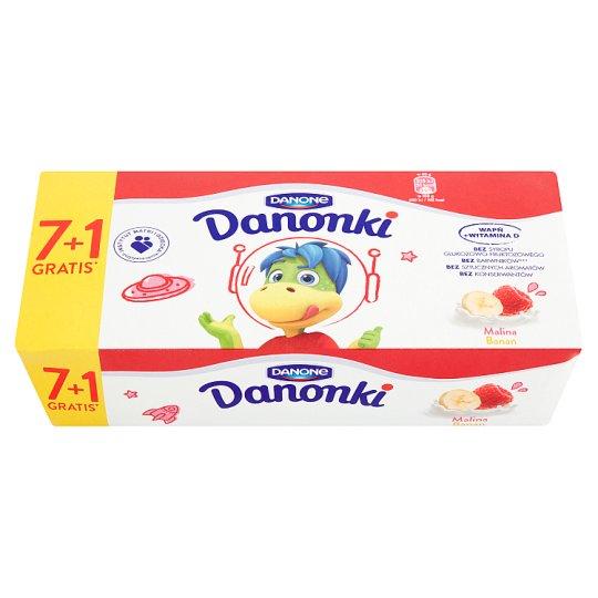 Danone Danonki Raspberry Banana Cottage Cheese 400 g (8 Pieces)