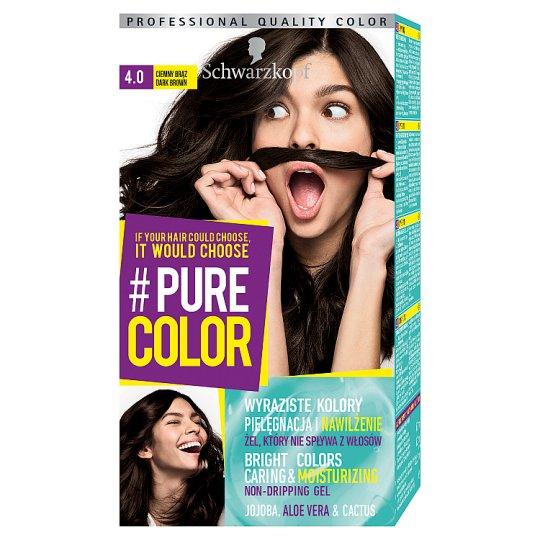 Schwarzkopf #Pure Color Farba do włosów 4.0 ciemny brąz