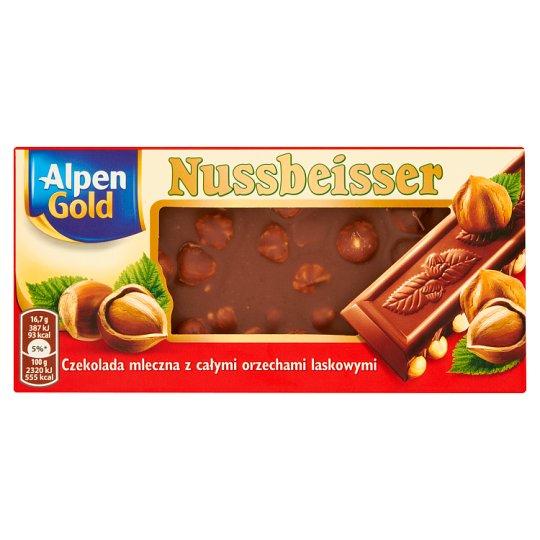Alpen Gold Nussbeisser Milk Chocolate with Whole Hazelnuts 100 g
