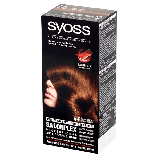 Syoss SalonPlex Farba do włosów czekoladowy brąz 4-8