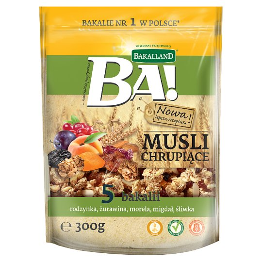 Bakalland Ba! 5 Delicacies Crunchy Muesli 300 g