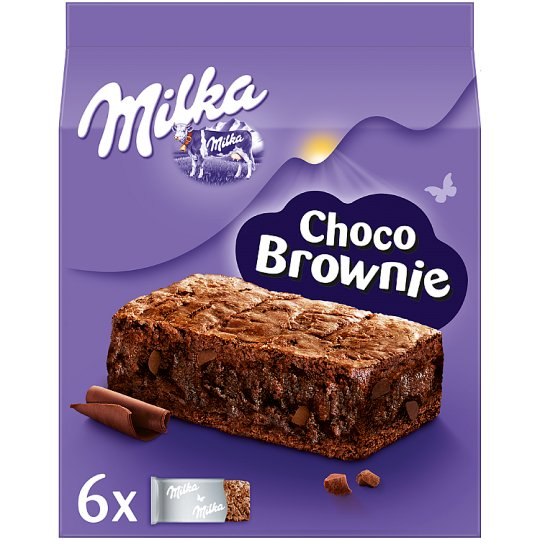 Milka Choco Brownie Cakes with Chocolate and Chocolate Pieces 150 g (6 x 25 g)