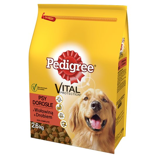 Pedigree Vital Protection Adult Complete Dog Food with Beef & Poultry 2.6 kg
