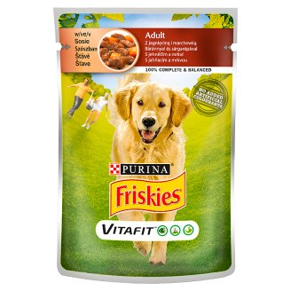 Friskies Vitafit Adult Dog Food with Lamb and Carrot in Sauce 100 g