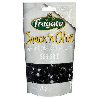 Fragata Snack'n Olive Oliwki czarne drylowane z oliwą z oliwek i solą morską 70 g
