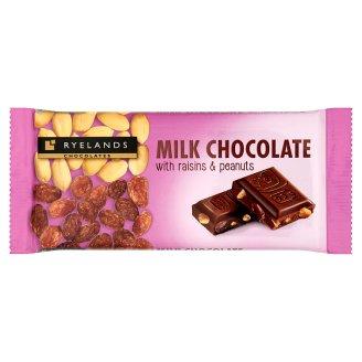 Ryelands Chocolates Czekolada mleczna z orzeszkami arachidowymi i rodzynkami 100 g