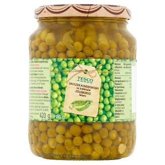 Tesco Green Peas in Brine 700 g