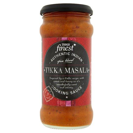Tesco Finest Pomidorowy sos indyjski Tikka Masala ze śmietaną miodem i ząbkami czosnku 350 g