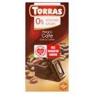 Torras Dark Chocolate with Coffee Sugars Free 75 g