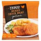 Tesco Smażone panierowane formowane filety z piersi kurczaka 700 g
