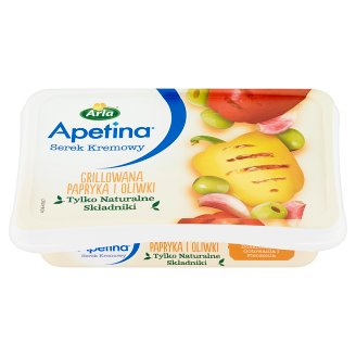 Arla Apetina Grilled Paprika and Olives Cream Cheese 125 g