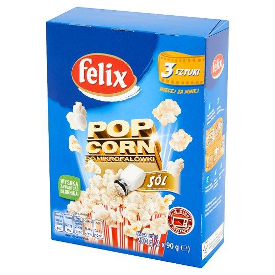 Felix Popcorn do mikrofalówki solony 270 g (3 x 90 g)