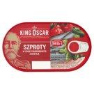 King Oscar Szproty w sosie pomidorowym z bazylią 170 g