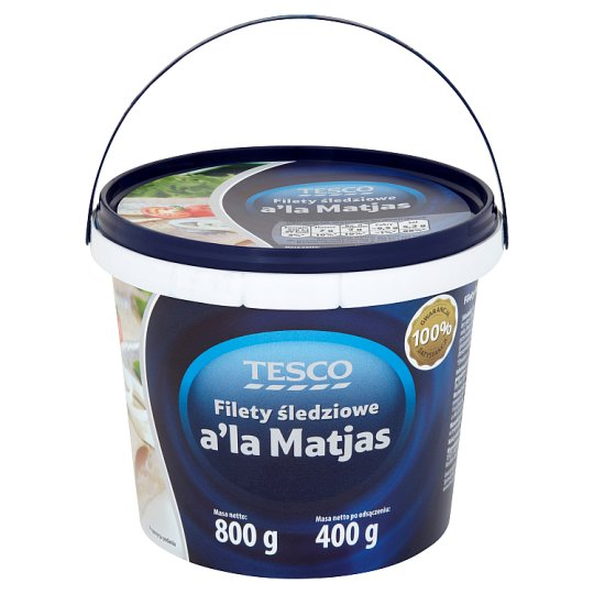 Tesco Filety śledziowe a'la Matjas 800 g
