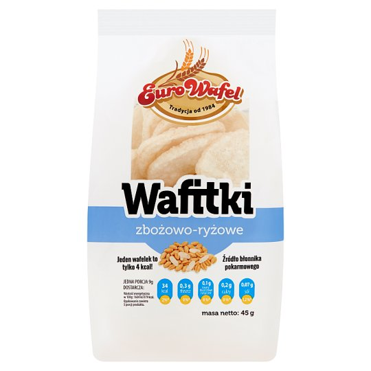 Eurowafel Grain-Rice Wafitki Wafers 45 g