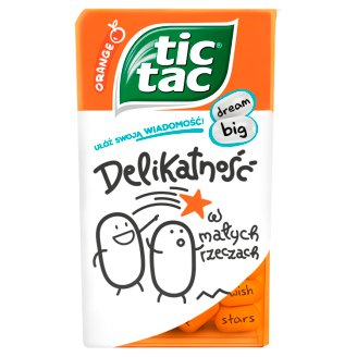 Tic Tac Orange Flavoured Sugar Coated Sweets 49 g