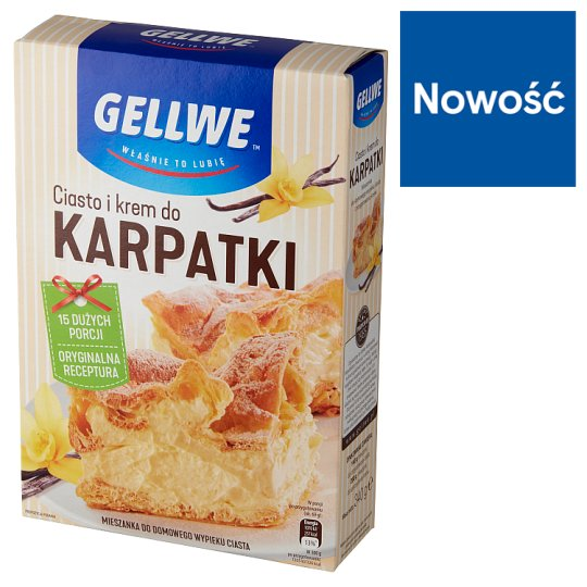 Gellwe Karpatka Cake and Cream 340 g