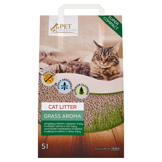 Tesco Pet Specialist Grass Aroma Cat Litter 5 L