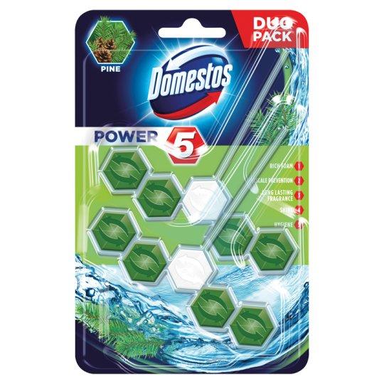 Domestos Power 5 Pine Toilet Block 2 x 55 g