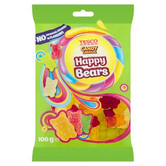 Tesco Candy Carnival Happy Bears Fruit Flavoured Jellies 100 g