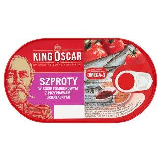 King Oscar Szproty w sosie pomidorowym z przyprawami orientalnymi 170 g