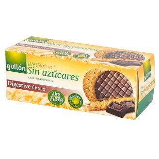 Gullón Digestive Choco Pełnoziarniste ciastka oblane ciemną czekoladą 270 g