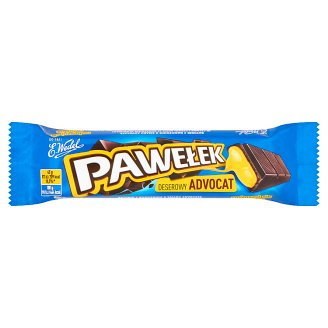 E. Wedel Pawełek Dark Chocolate Bar with Advocaat Filling 45 g