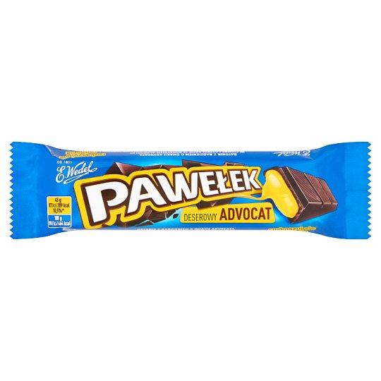 E. Wedel Pawełek Dark Chocolate Bar with Advocaat Filling 45 g
