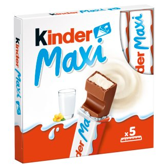 Kinder Maxi Candy Bar of Milk Chocolate with Milk Filling 5 x 21 g