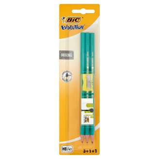 BiC Evolution Original 3 Graphite Pencils 1 Eraser and 1 Sharpener Set