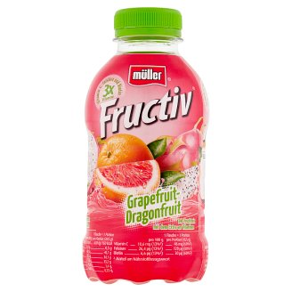 Müller Fructiv Grapefruit-Pitaya Fruit Juice and Whey Drink 440 ml