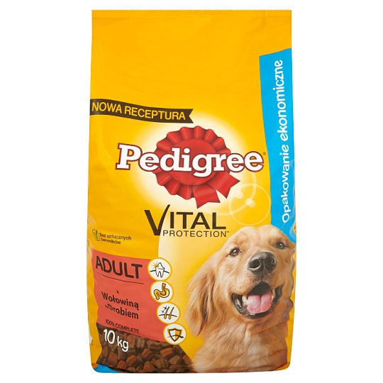Pedigree Vital Protection Adult with Beef & Poultry Complete Food 10 kg