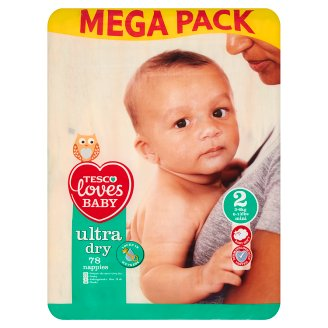 Tesco Loves Baby Ultra Dry Pieluszki jednorazowe 2 mini 3-6 kg 78 sztuk