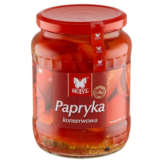 Motyl Preserved Red Pepper 600 g